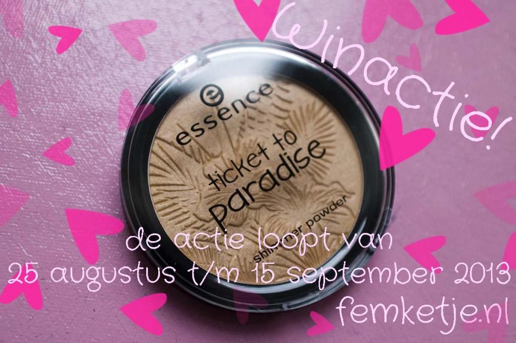 winactie essence ticket to paradise shimmer powder femketjeNL