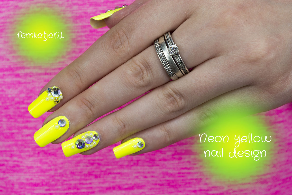 Tutorial \u2013 Neon Yellow Nail Design!
