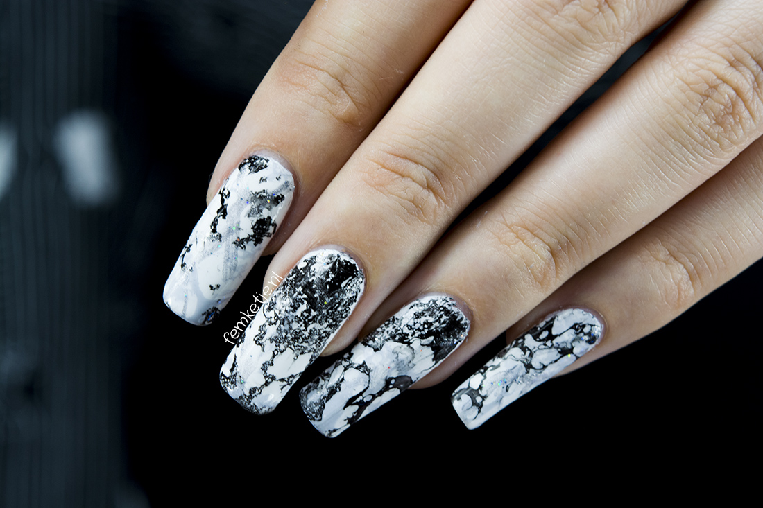 White Marble Nails Regular Nailpolish Femketje Nl